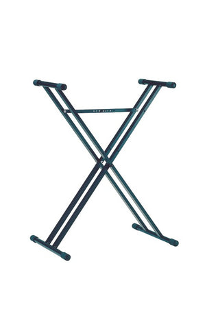 Steel keyboard stand with double-braced X-stand