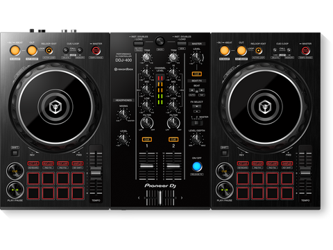 DDJ-400 - 2-channel performance DJ controller/mixer with built-in sound card for use with rekordbox dj software