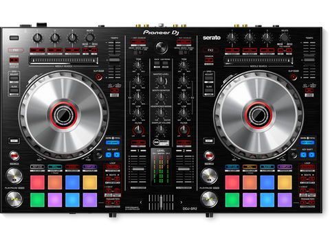 DDJ-SR2 - 2-channel performance DJ controller/mixer with built-in sound card for use with Serato DJ Lite software