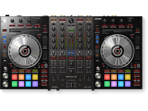 DDJ-SX3 - 4-channel performance DJ controller/mixer for use with Serato DJ software