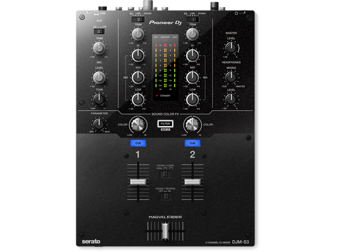 Pioneer DJM-S3 - 2-channel DJ mixer with built-in sound card for use with Serato DJ software