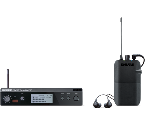 P3TR112GR - PSM 300 wireless personal monitor system with SE112-GR earphones.