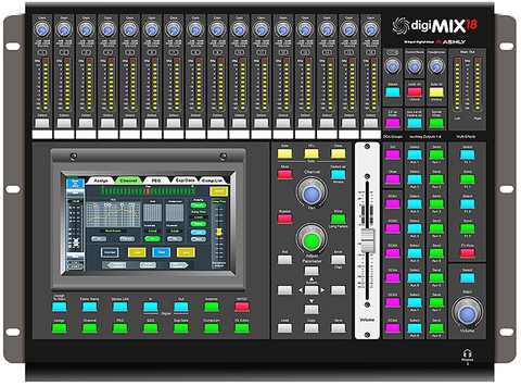 ASHLY digiMIX18 - 18 Inputs Digital Mixer
