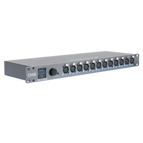 EN12 - Ethernet to DMX gateway with 12 RDM compatible ports