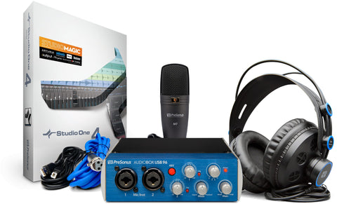 AudioBox USB96 Studio - Complete mobile recording kit for Mac or Windows