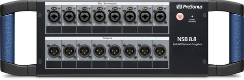 NSB 8.8 - 8x8 AVB-networked stage box