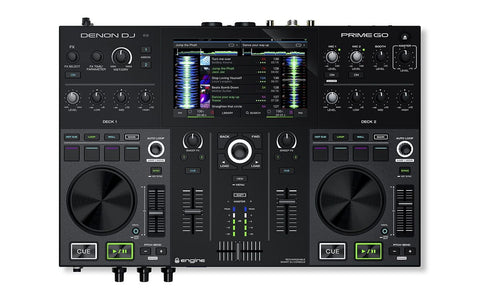 DENON PRIME GO - 2-DECK STANDALONE PORTABLE DJ SYSTEM WITH RECHARGEABLE BATTERY