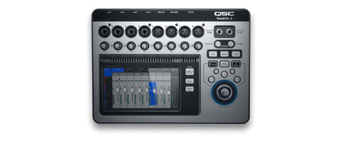 TOUCHMIX-8 - 8 channel digital mixer with touchscreen and carrying case.