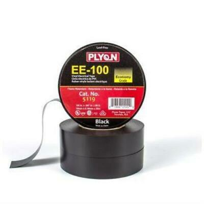 Plyon EE-100 General Purpose Vinyl Electrical Tape (Black) Pack of 10
