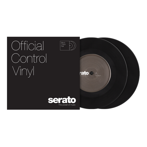 "SERATO SCV-PS-BLK-7S VINYL 7"" BLACK PAIR"