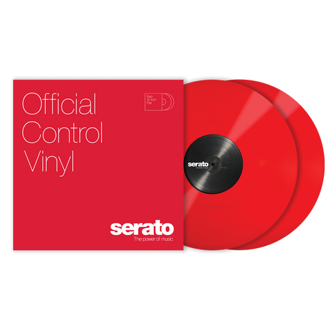 "SERATO SCV-PS-RED-OV - VINYL 12"" RED (PAIR)"