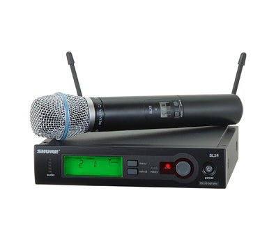 SLX24/BETA87C - Wireless System with SLX24/BETA87C Handheld Transmitter