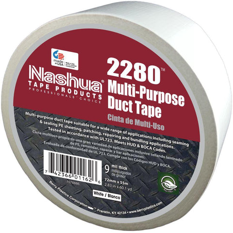 "Multi-Purpose 2"" Duct Tape White(180')"