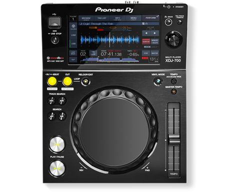 Pioneer XDJ-700 - Compact-sized multimedia player with large LCD display and removable stand
