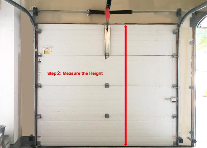 measure garage door height
