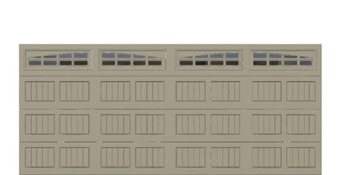 16' x 7' Thermacore Insulated Steel Garage Door (V5)