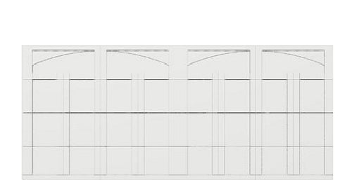 16 x 7 Courtyard (163t Arch) white panels, no window