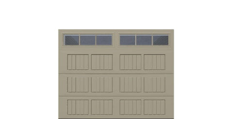 9' x 7' Traditional Steel Garage Door (V5)