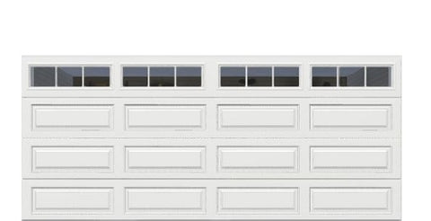 16' x 7' Traditional Steel Garage Door (Long)