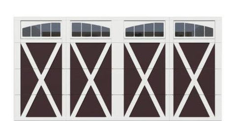 16' x 8' Courtyard 7560 (X) Arch Garage Door