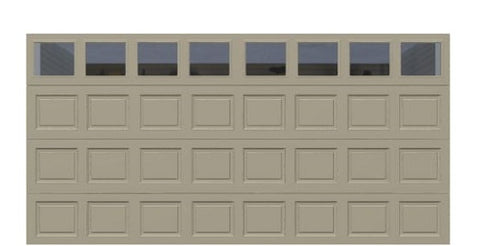 16' x 8' Traditional Steel Garage Door (Standard)