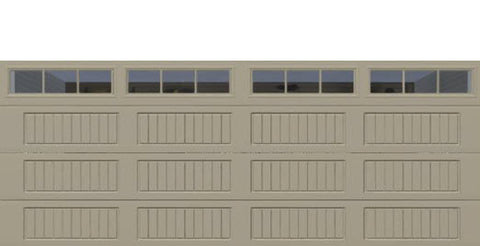 18' x 7' Thermacore Insulated Steel Garage Door (V10)