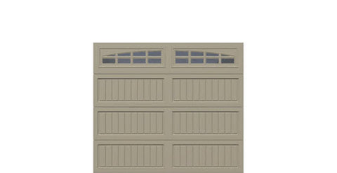 8' x 7' Thermacore Insulated Steel Garage Door (V10)