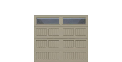 8' x 7' Traditional Steel Garage Door (V5)