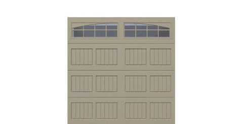 8' x 8' Traditional Steel Garage Door (V5)