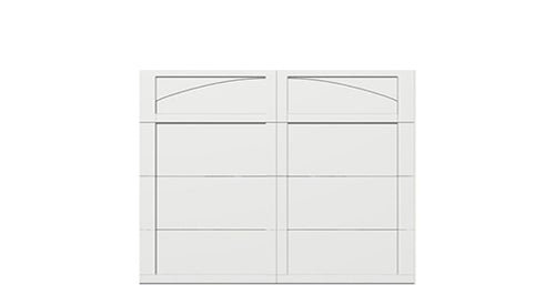 9' x 7' Courtyard 7560 (H1) Arch Garage Door