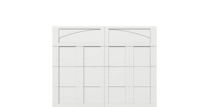 9' x 7' Courtyard 7560 (C5) Arch Garage Door