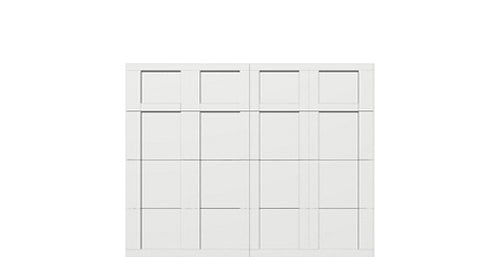 9' x 7' Courtyard 7560 (C5) Square Garage Door