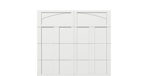 9' x 8' Courtyard 7560 (C5) Arch Garage Door