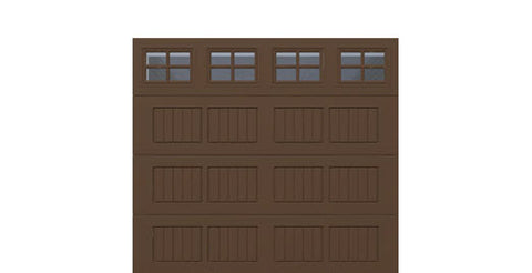 9' x 8' Traditional Steel Garage Door (V5)