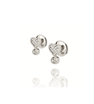 Silver and Diamonds Exclamation Studs Lark and Berry