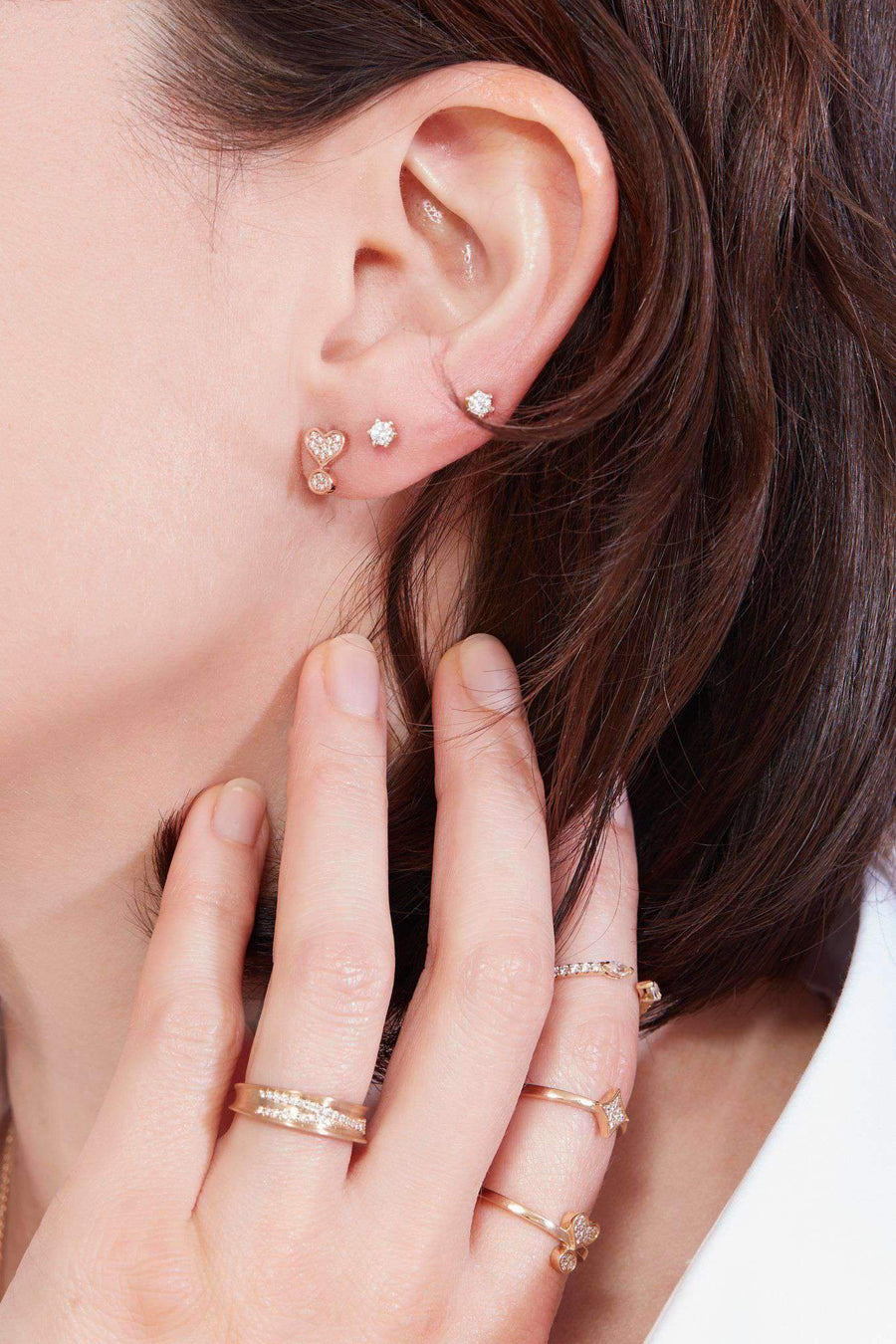 Exclamation Diamond Pavé Stud Earrings Earrings Lark and Berry
