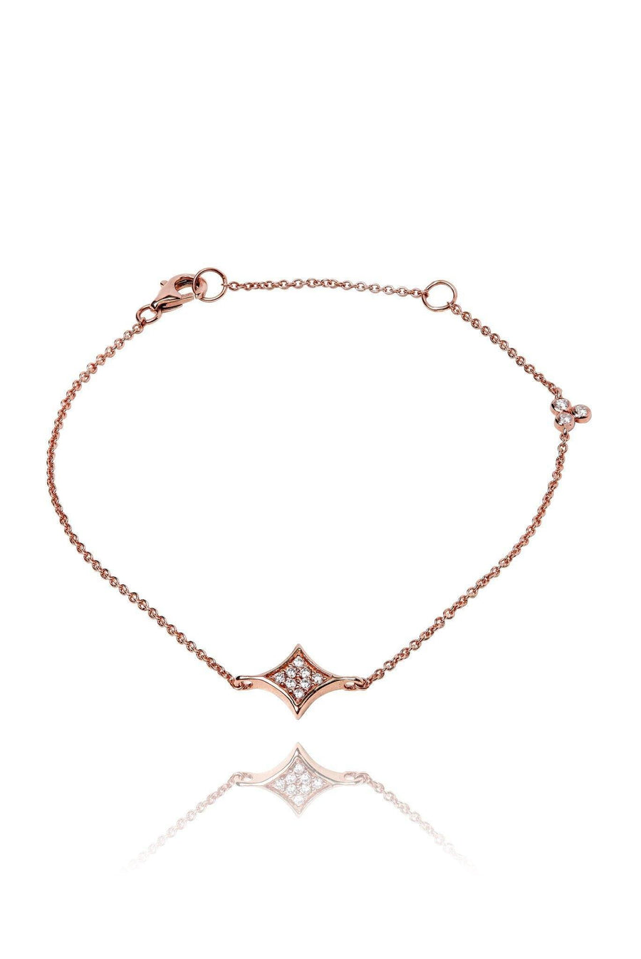 Rhombus Diamond Pavé Bracelet Bracelets Lark and Berry Rose Gold