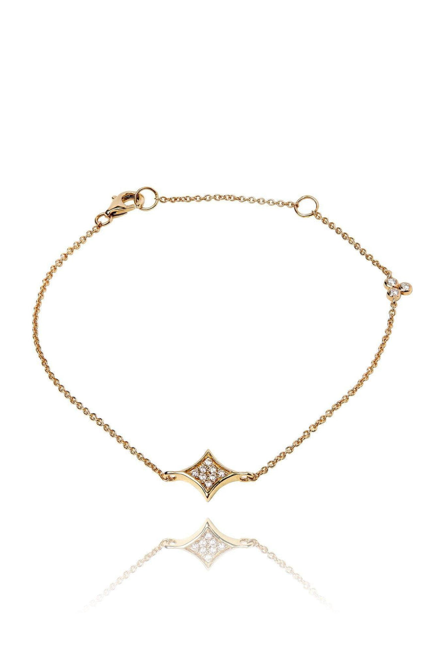 Rhombus Diamond Pavé Bracelet Bracelets Lark and Berry Yellow Gold