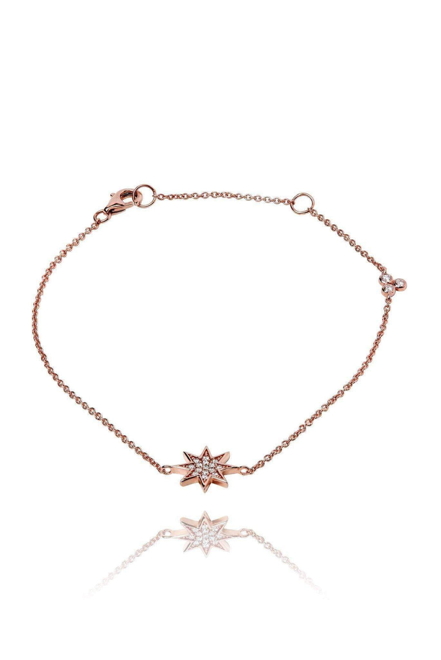 Star Diamond Pavé Bracelet Bracelets Lark and Berry Rose Gold
