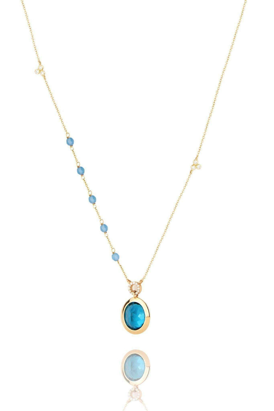 Blue Ellipse Necklace Necklaces Lark and Berry