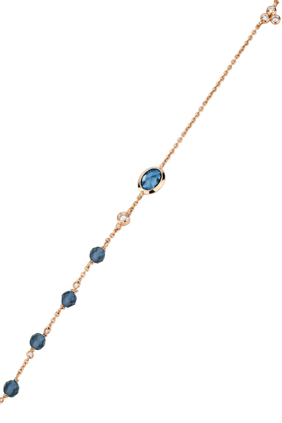 Dune Blue Ellipse Bracelet in 14K Yellow Gold