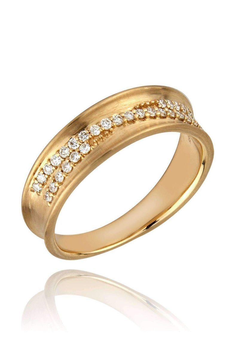 Dune Slim Diamond Band Rings Lark and Berry US(5 1/4)