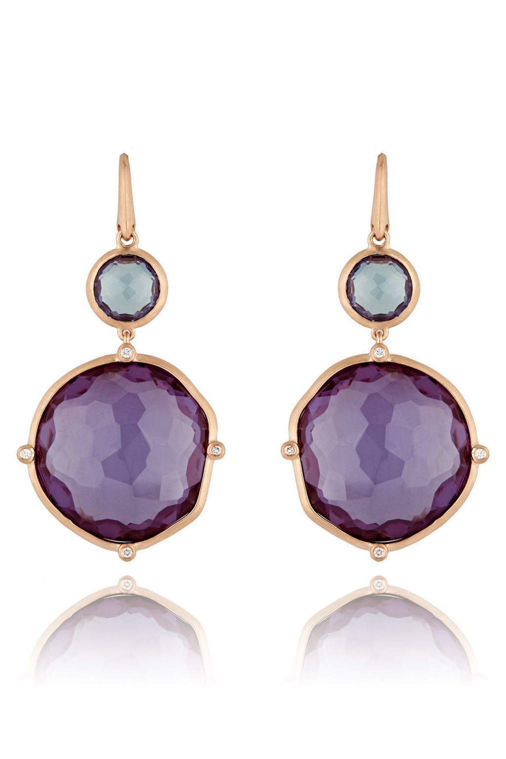 Purple Sapphire Dune Drop Earrings Earrings Lark and Berry