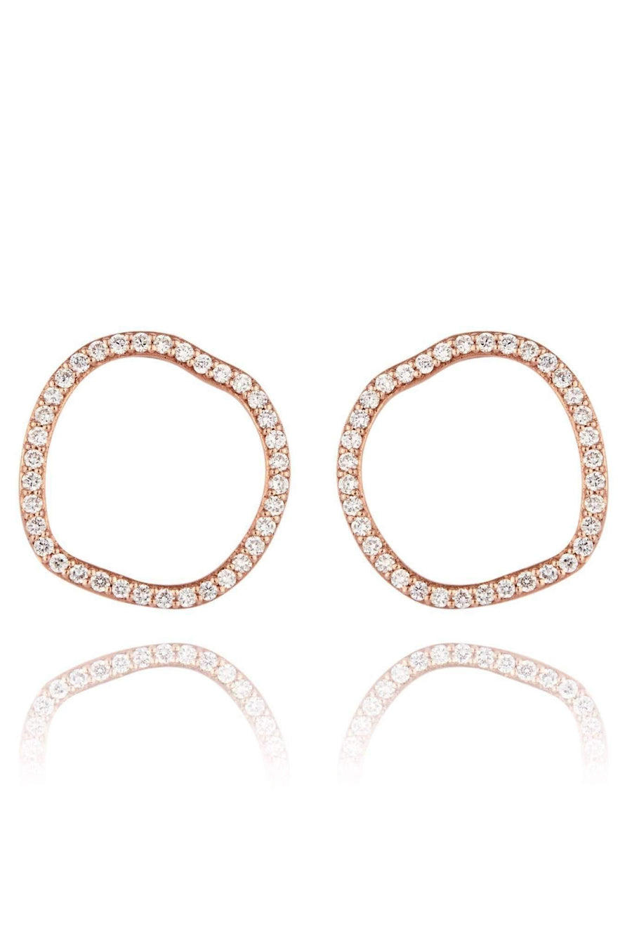 Halo Diamond Stud Earrings Earrings Lark and Berry