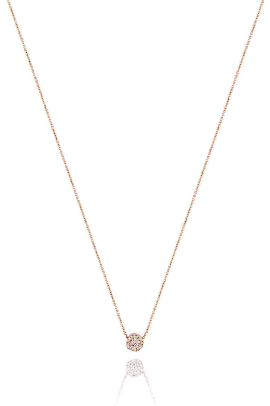 Halo Full Diamond Pendant Necklaces Lark and Berry