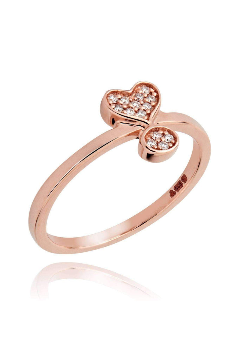 Exclamation Diamond Pavé Ring Rings Lark and Berry US(7 1/4) Rose Gold