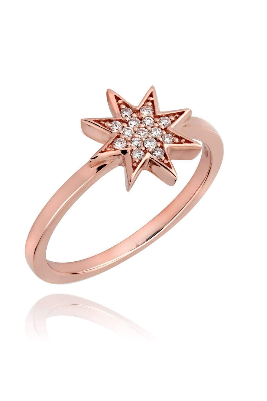 Star Diamond Pavé Ring Rings Lark and Berry US(7 1/4) Rose Gold