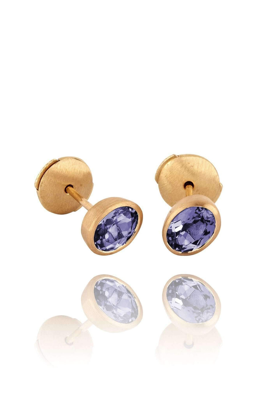 Purple Ellipse Stud Earrings Earrings Lark and Berry