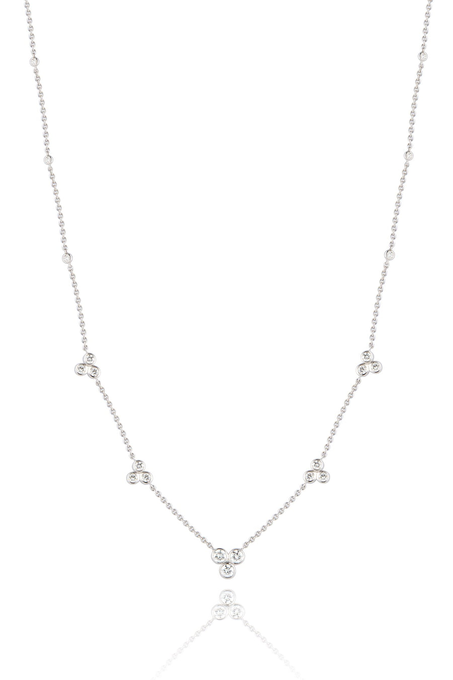 Flora Diamond Station Necklace (without detachable drop) Necklaces Lark and Berry