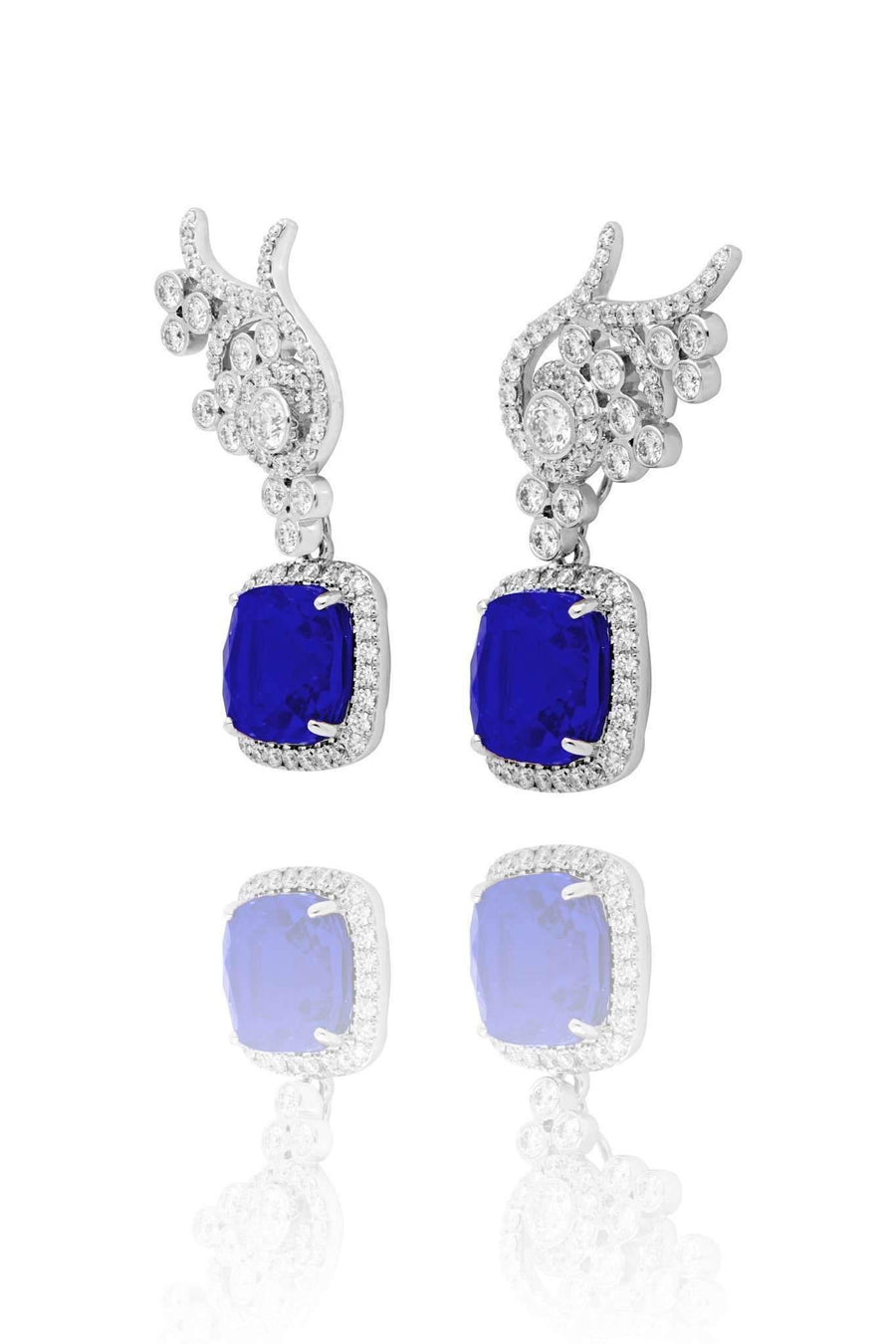 Flora Blue Sapphire Detachable Drops Drops Lark and Berry